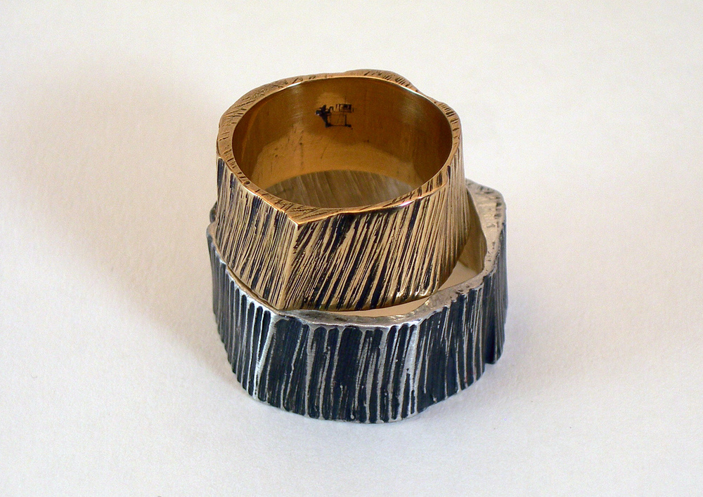 DGM wedding rings - Bark nesting