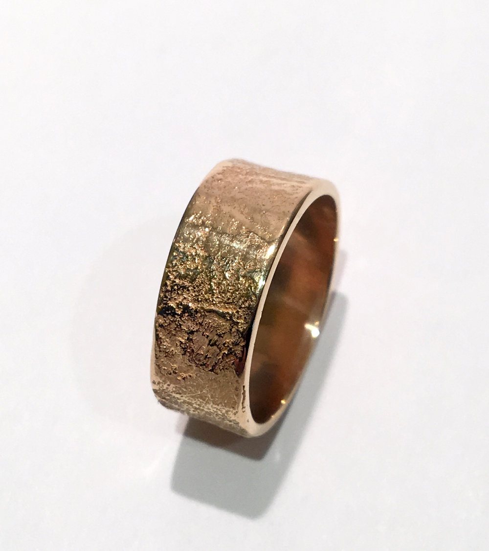 HOLIDAY SALE!! Pre-order Japanese Paper texture rings in 18K 14K or 10K at sale prices until December 31st!