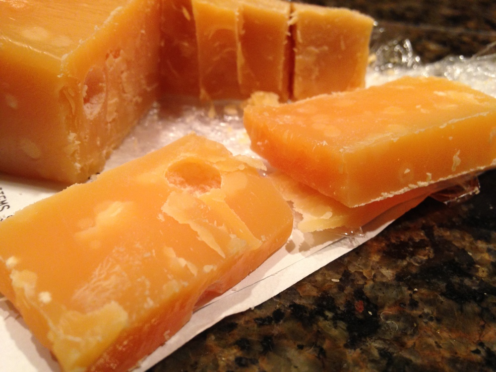 Crumbly wedges of Vintage 5-Year Gouda, replete with caverns of age and clusters of tyrosine crystals MIAM MIAM