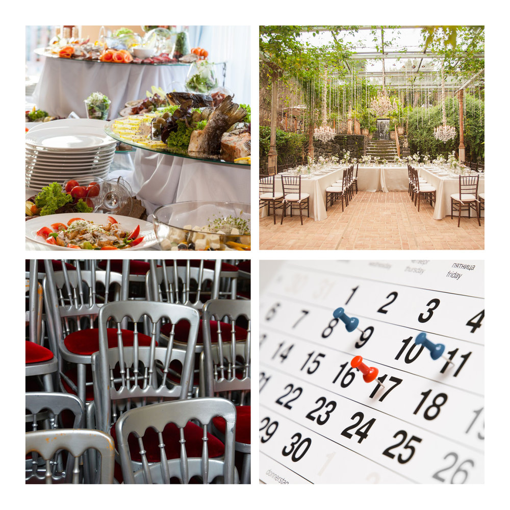 One stop shop that brings all the moving parts together - Catering - Venue - Equipment - Scheduling