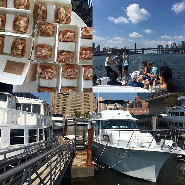 #Eastriver yacht cruise #2017 #bigboat @lukeslobster for the team of 12 at @letgo Hope you all had fun!  I sure did! shailongcreative.com/events/  #eventplanner #event #plan #planner #coordinator #schedule #pullittogether #look #feelings #party #logistics #corporateevents #private #flawless #funtimes #help