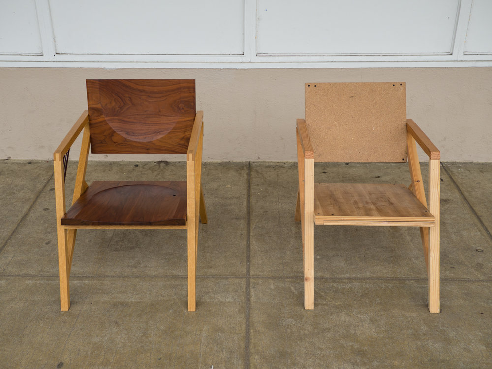 Final and prototype chair together