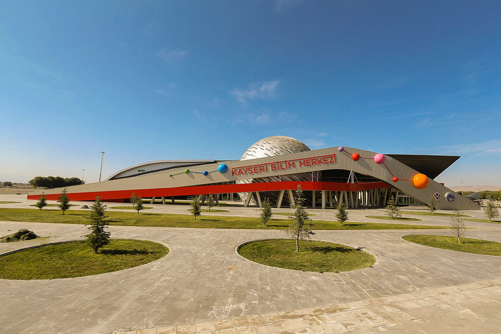 Outside of the Kayseri Science Centre. Photo from Google.