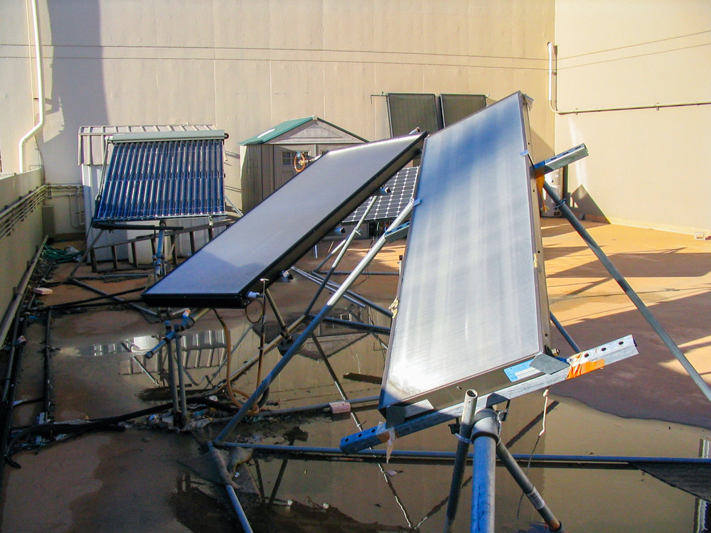 Direct circulation solar water heater, which directly heats the water without a heat exchanger