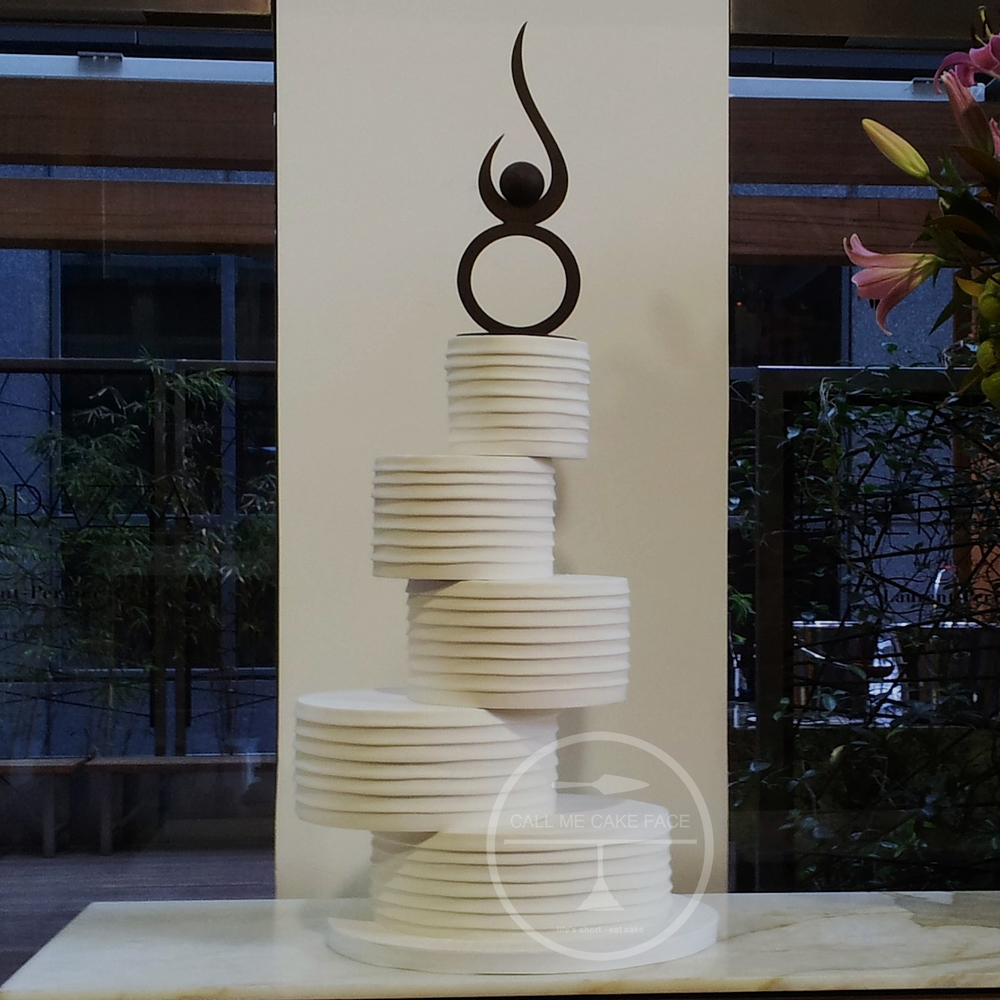 Off Set Contemporary Wedding Cake