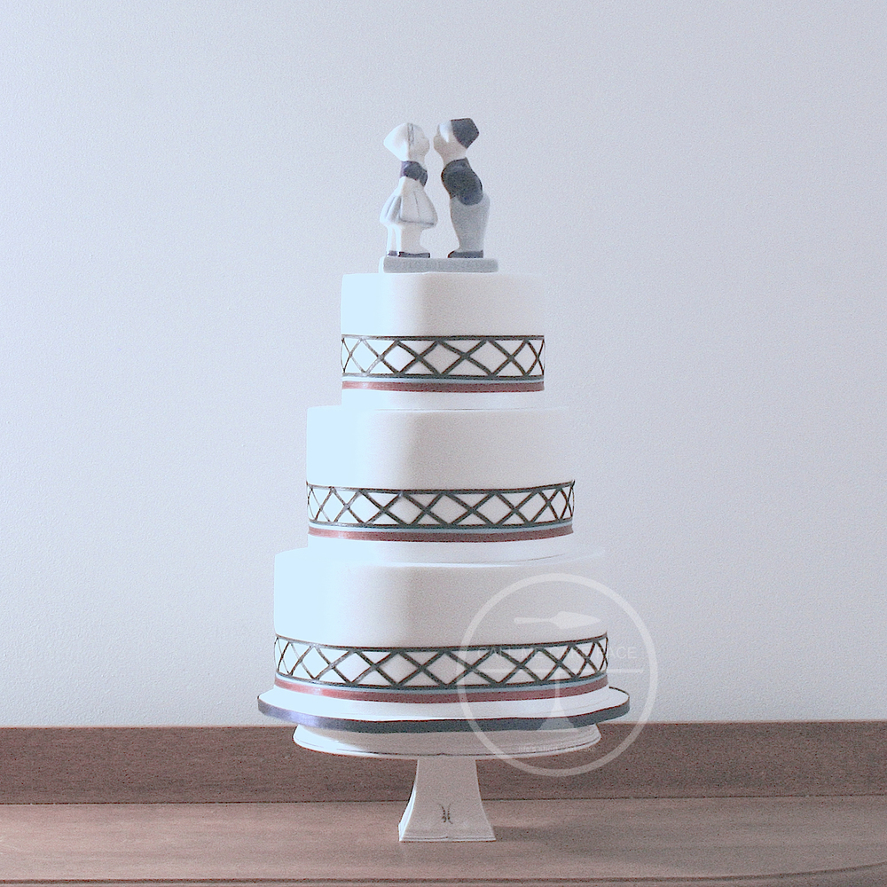 Lattice Wedding Cake