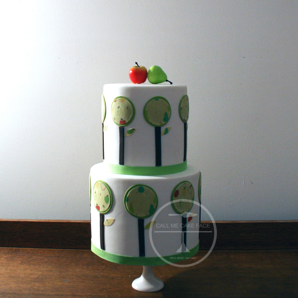 Apple Patchwork Wedding Cake