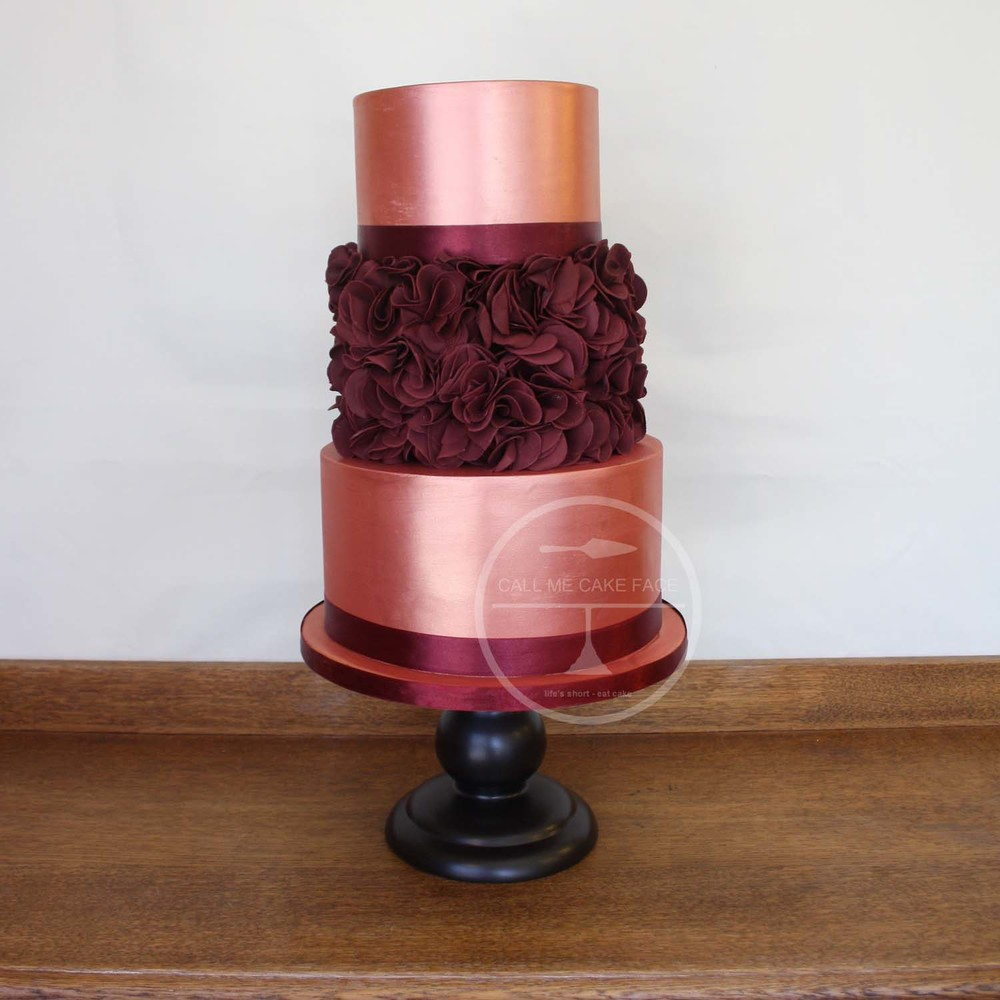 Burnt Orange Wedding Cake