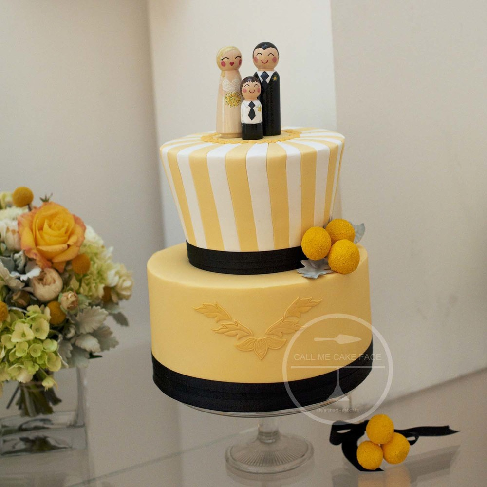 Carousal Inspired Wedding Cake