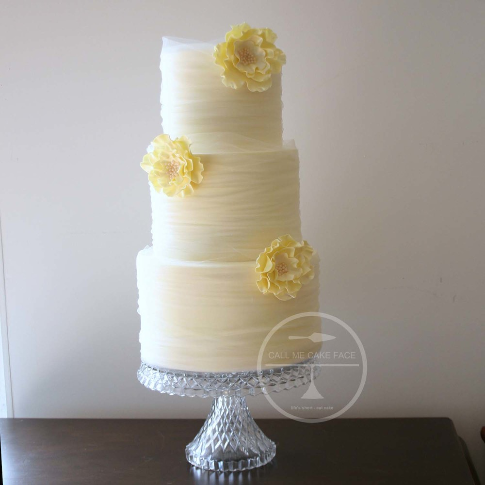 Soft Tulle Wedding Cake