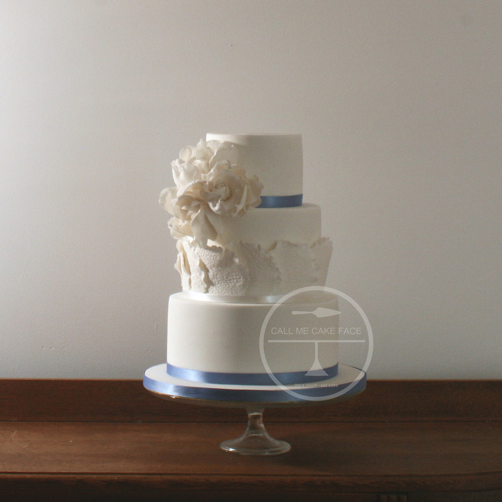 Lace Doily Wedding Cake