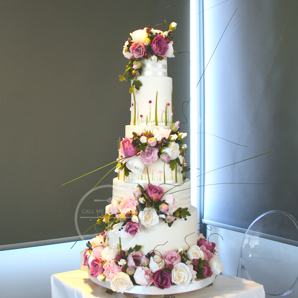 Sugar Rose Wedding Cake
