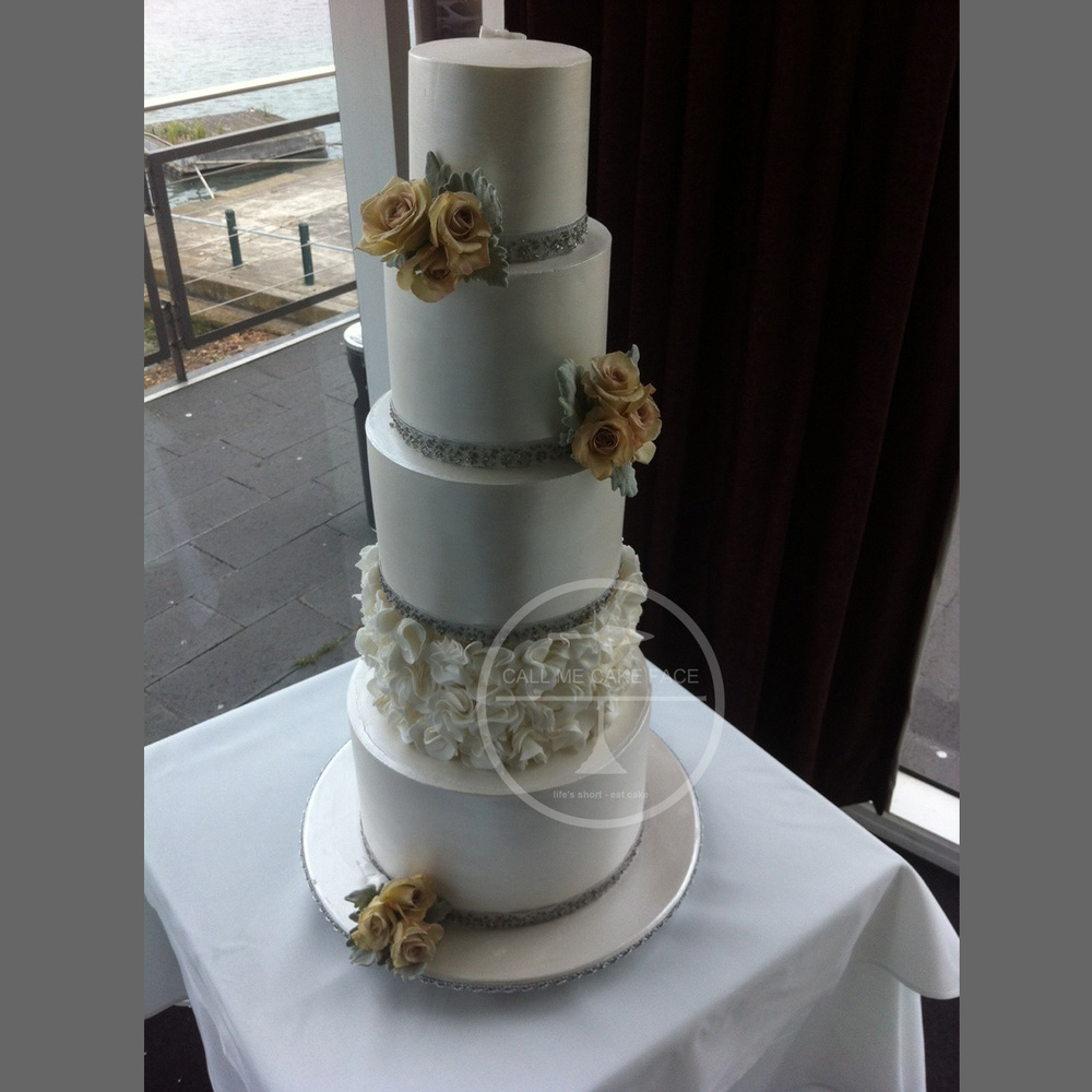 Silver Lustre Wedding Cake