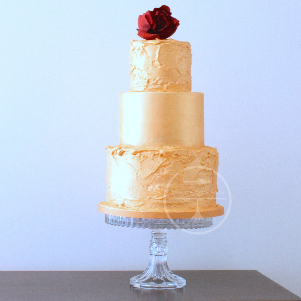 Gold Nugget Wedding Cake