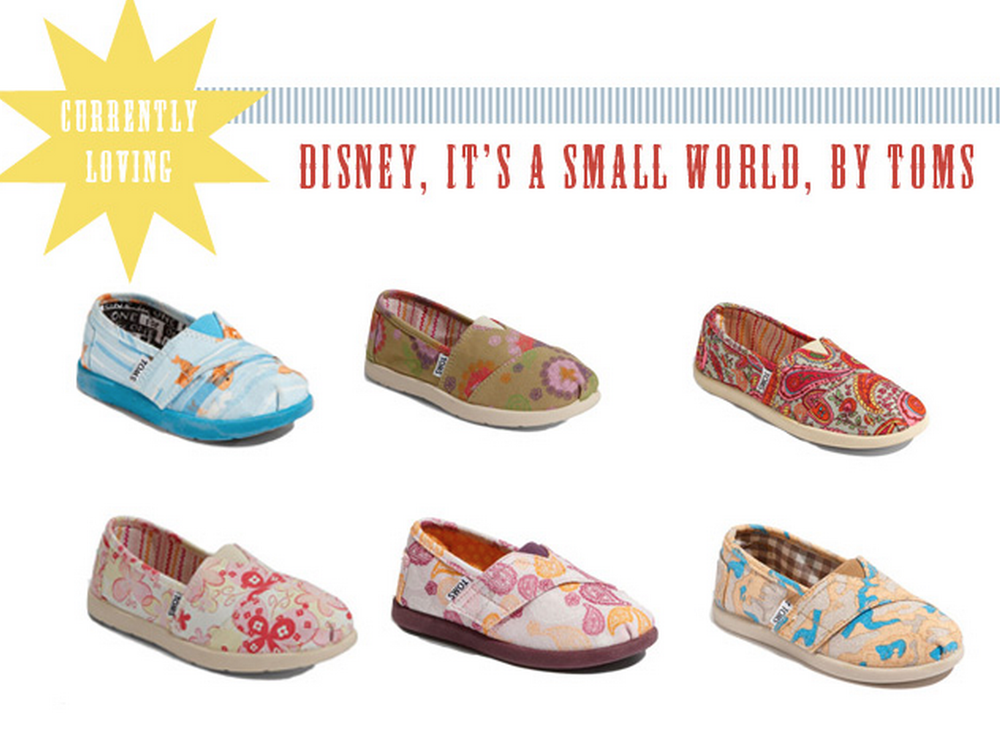 TOMS shoes for the It's a Small World Collection