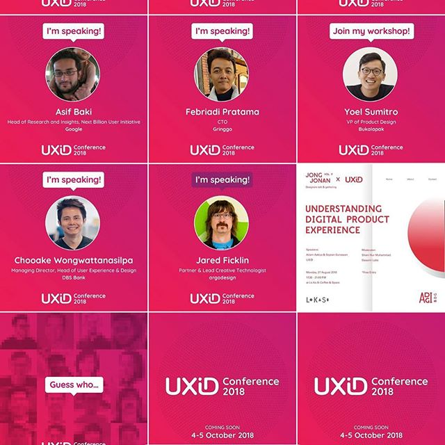 "Going to be a guest speaker for case study ""Growing and Building UX Team"" in UXID Indonesia 🇮🇩 , First time there :) can't wait to see the designer👨🏼‍🎨 👩‍🎨 there #thiswilldo #dbsuxd"