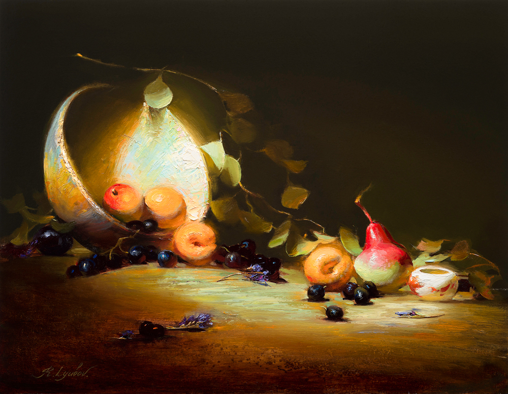 Pear and Apricots 14x18
