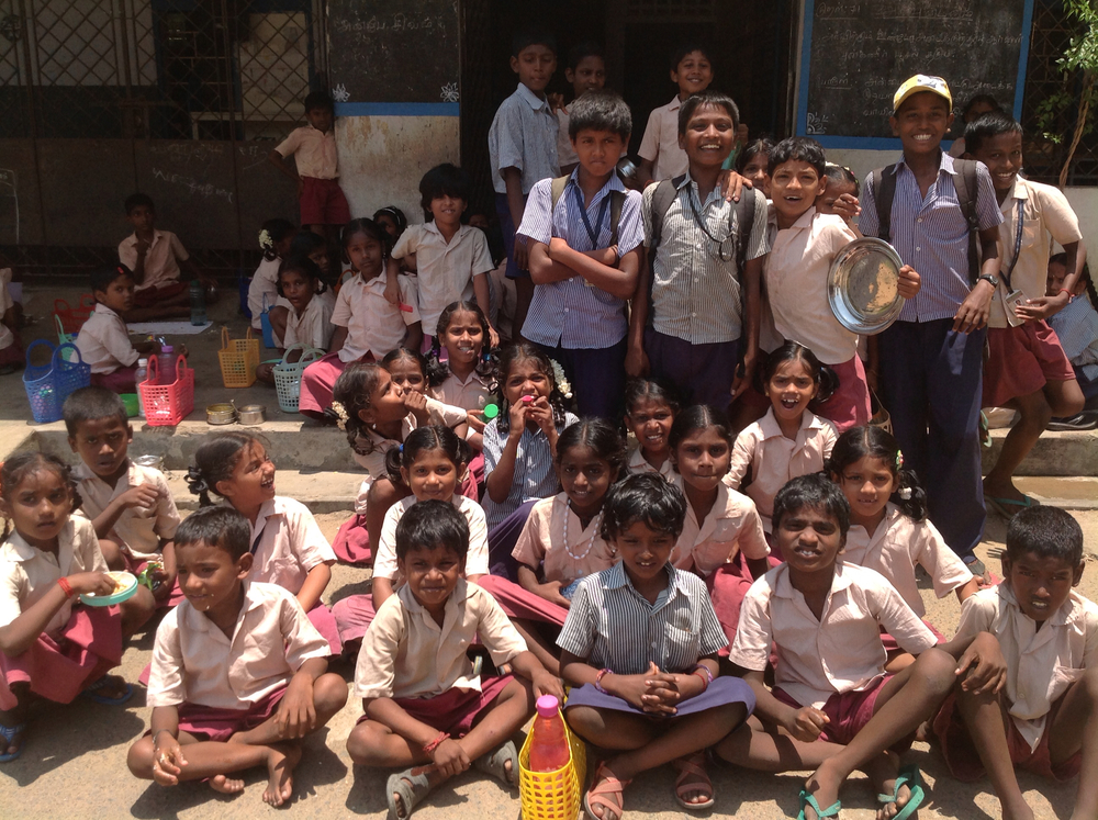 Some of the children on their lunch time break at Chennai Primary School