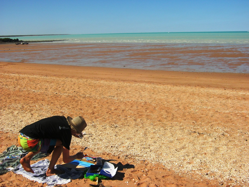 Painting in Broome, Western Australia