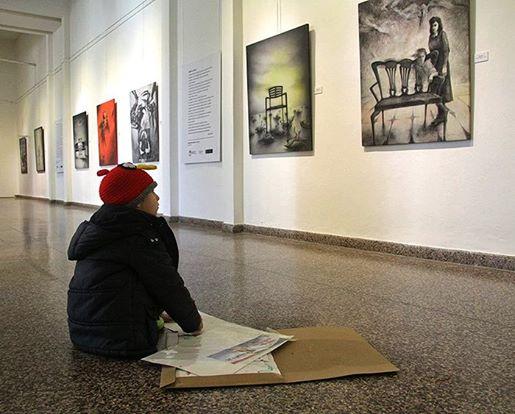 Exposición de Claudio Osan, Museo Provincial de Bellas Artes, Parana, Argentina