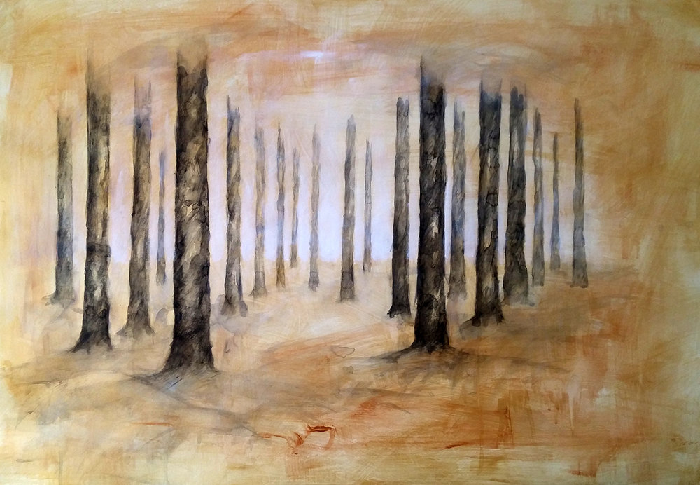 Bosques II - 2016 - oil on paper- cm70x100.jpg