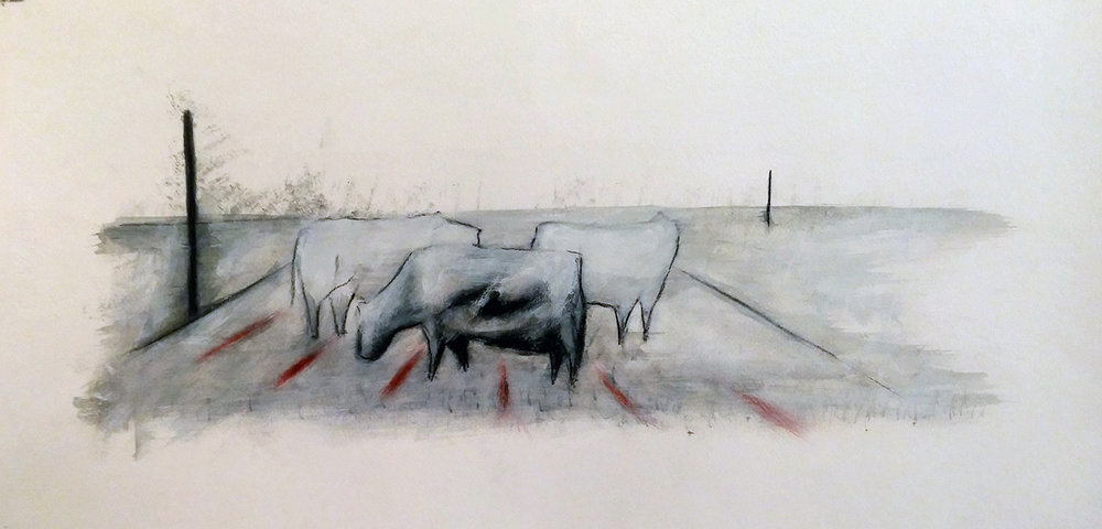 Vacas migrantes II -2016 - oil on paper - cm35x50.jpg