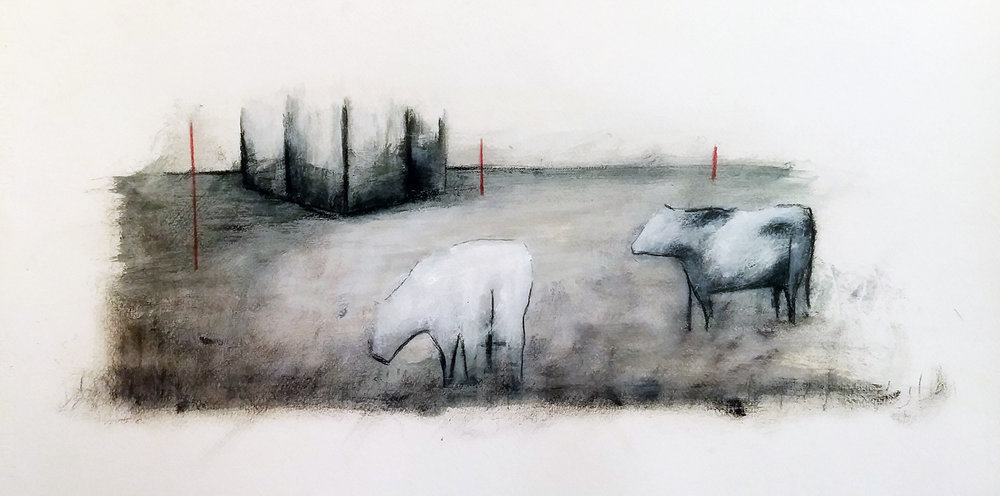 Vacas migrantes - 2016 - oil on paper - cm35x50.jpg