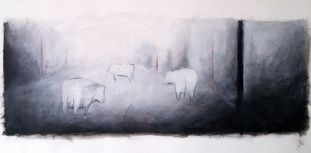 Vacas migrantes IV - 2016 -oil on paper - cm35x50.jpg