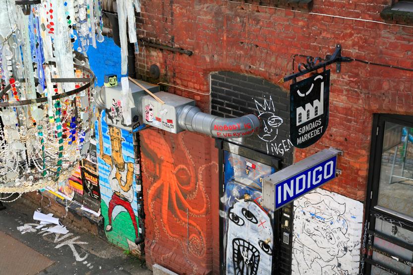 """Graffitis d'Ingens Gate (Litt: """"Nobody's street), Q de Grünerløkka"""