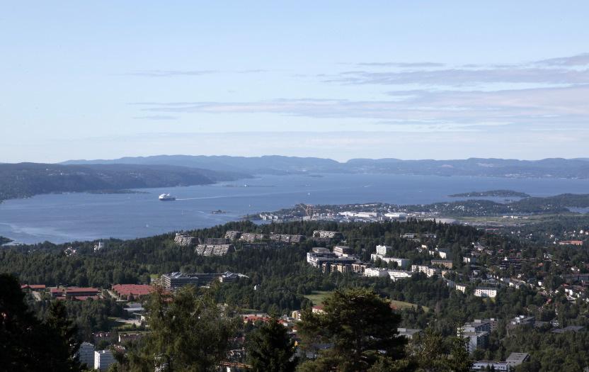 Fjord d'Oslo vu de Holmenkollen