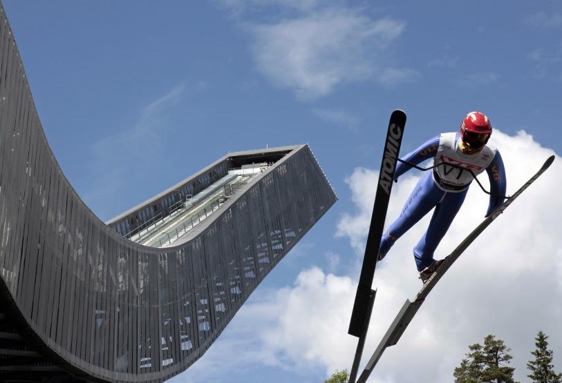 Célèbre Ski Jump du Holmenkollen National Ski Arena