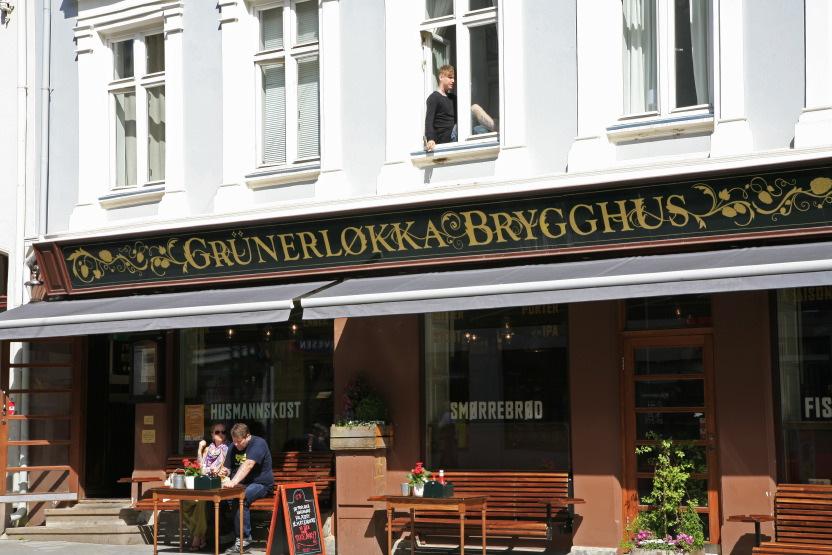 Bistrot dans le quartier de Grünerløkka