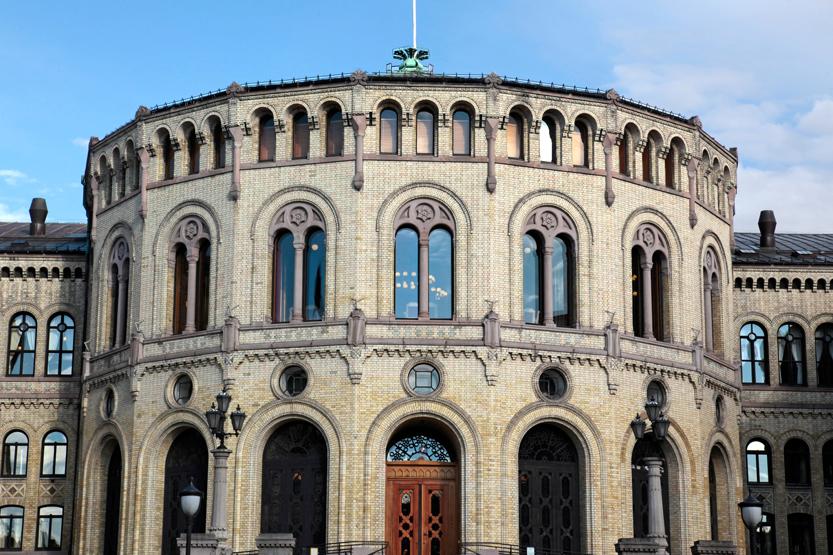 Le Storting (Parlement) sur Karl Johans Gate