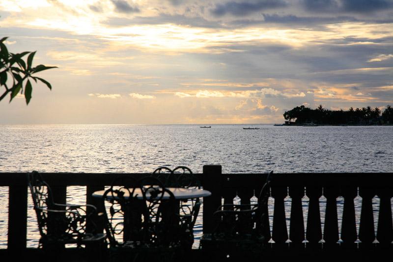 La terrasse du Pantai Gapura