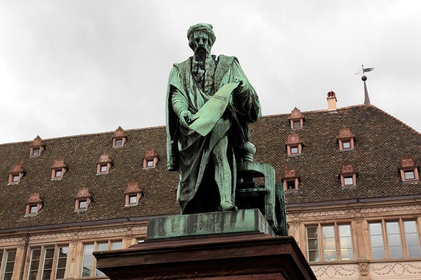 Statue de Gutenberg, Strasbourg
