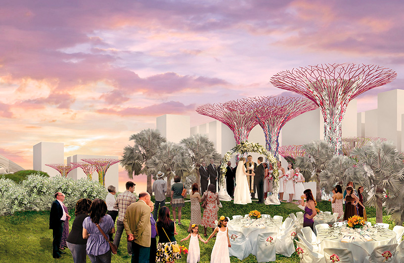 Silver Leaf (space for event) Gardens By The Bay, Artist Impression