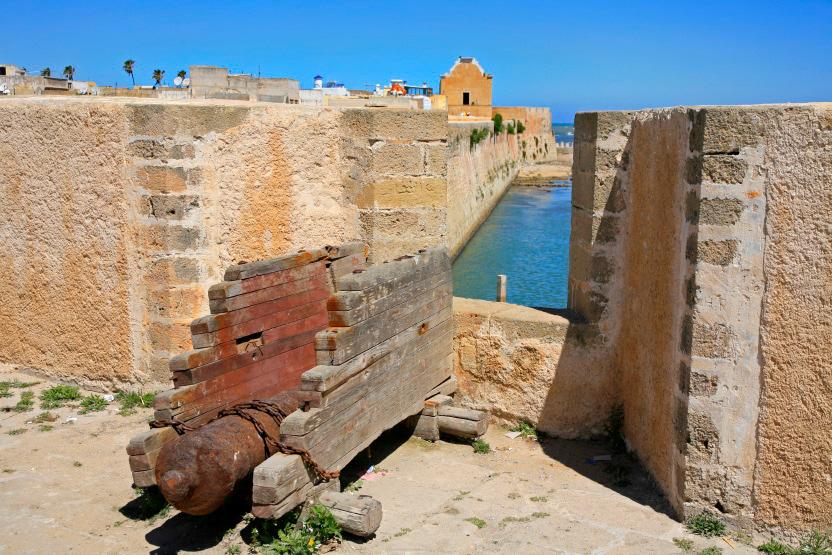 Canons portugais sur les remparts d'El Jadida