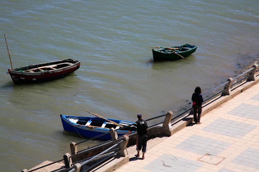 Bateaux de pêcheurs au repos, El Jadida