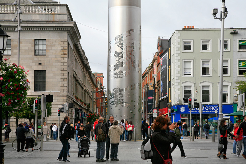 The Spire sur O'Connell Street
