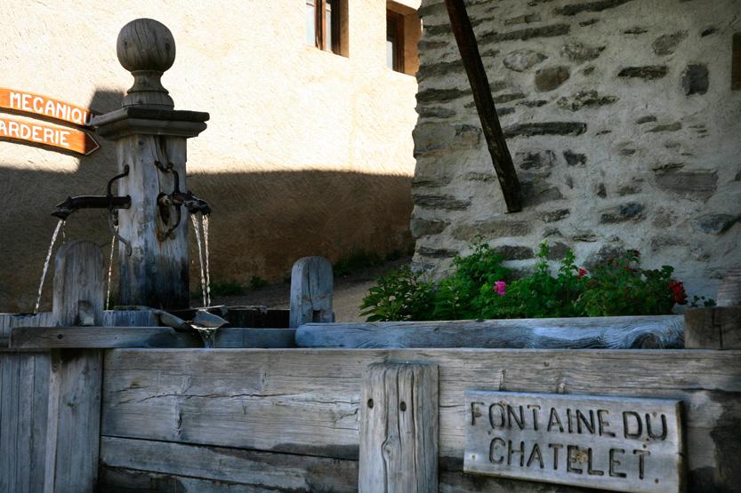 fontaines en mélèze