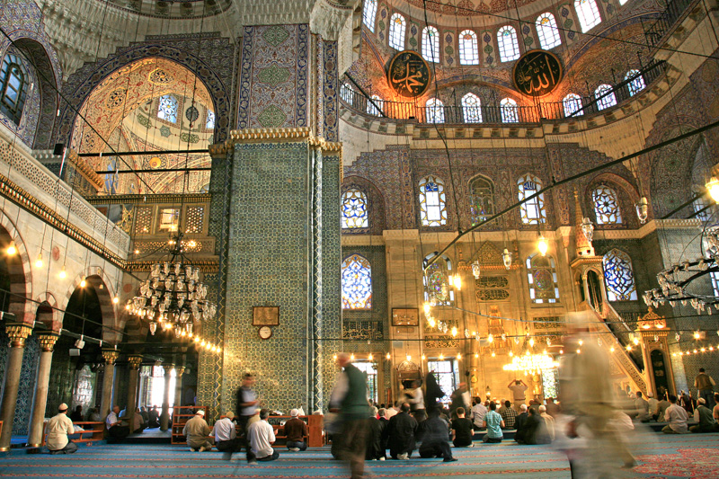 L'heure de la priere a la mosquee de la Sultane Mere (New Mosque)