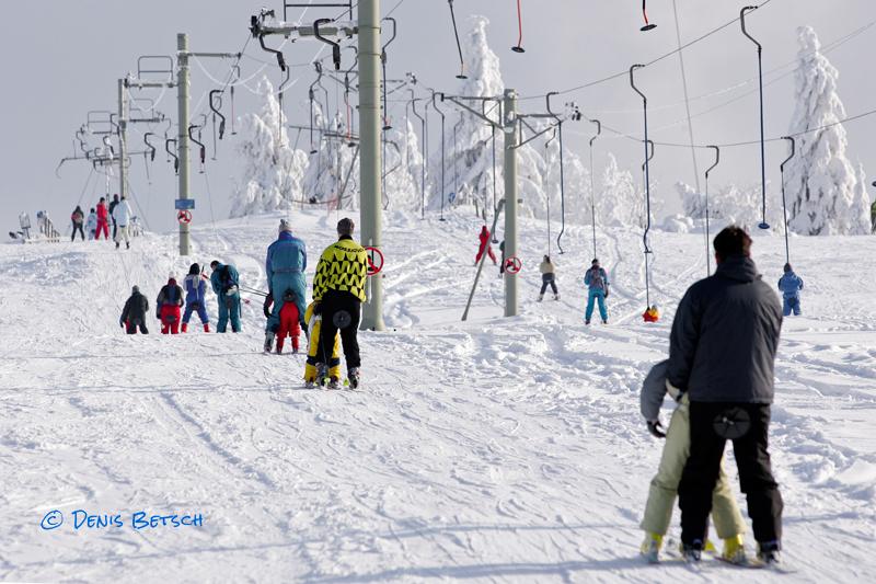 Ski Alpin au Champ du Feu (Vallée de la Bruche)