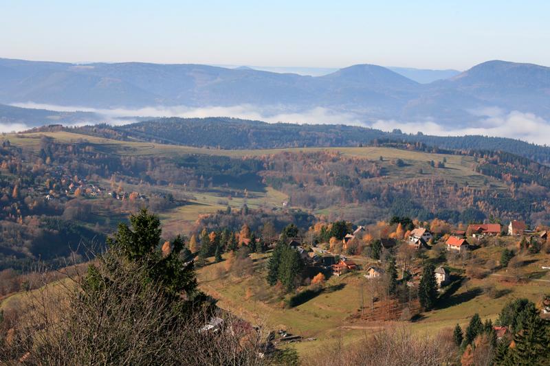 Vue du haut de Belmont, Vallée de la Bruche