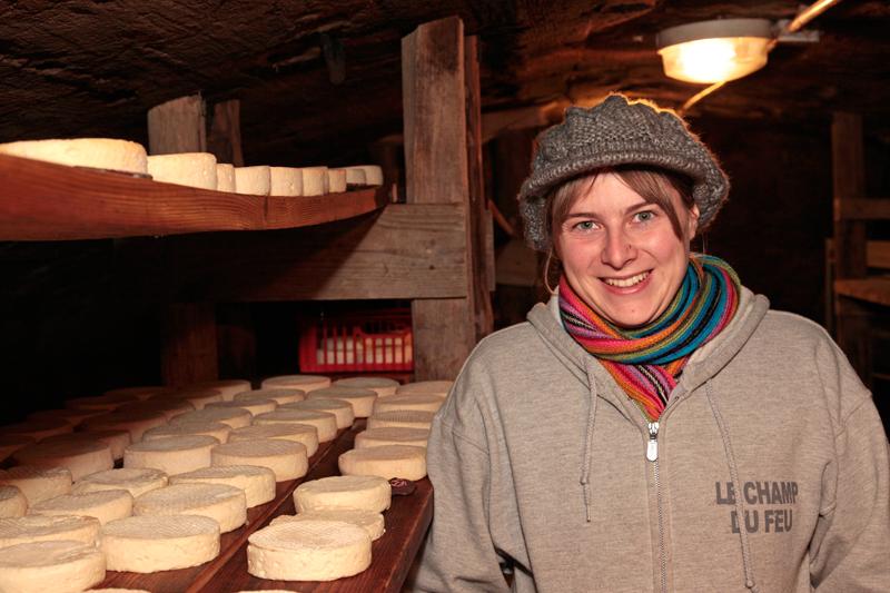 Emmanuelle dans sa ferme de Bourg Bruche (+ Munster !)