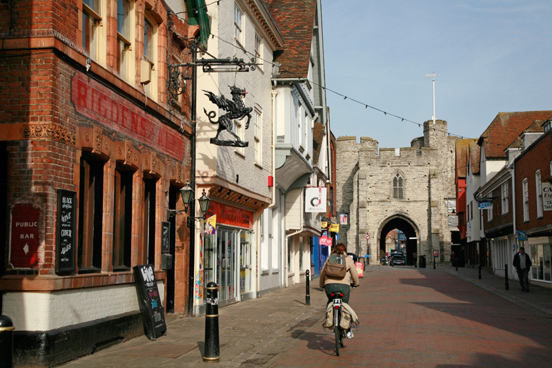 High street looking to West Gate, Canterbury