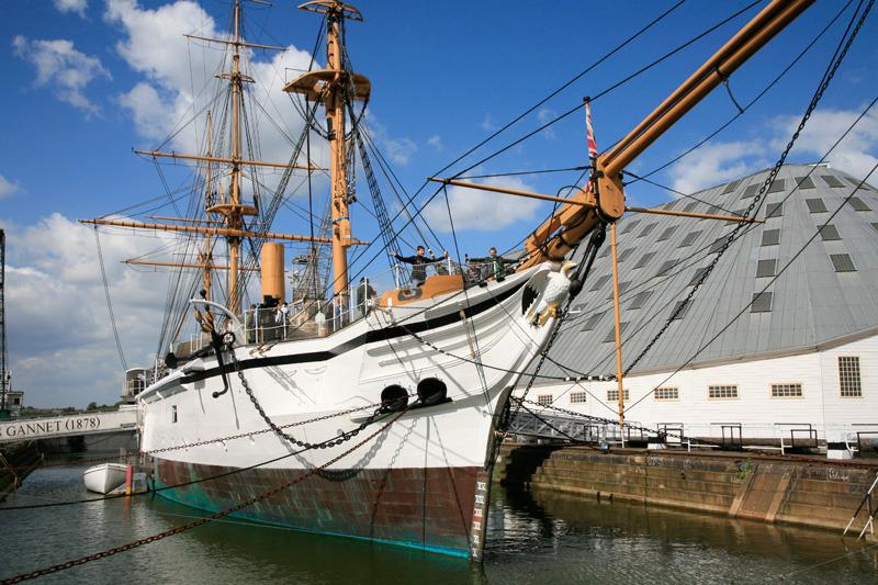 Sur le site naval de Chatham