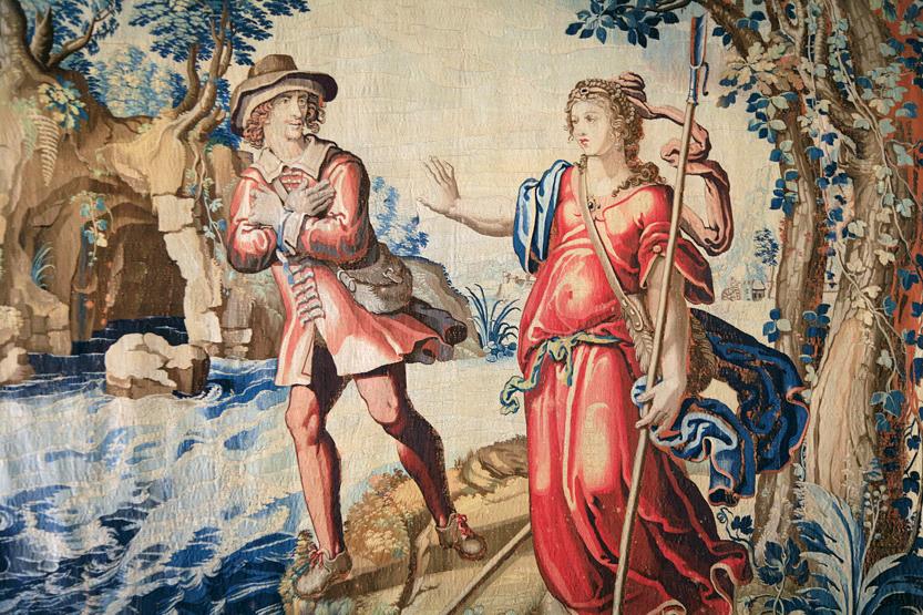 Tapisserie représentant Astrée et Céladon