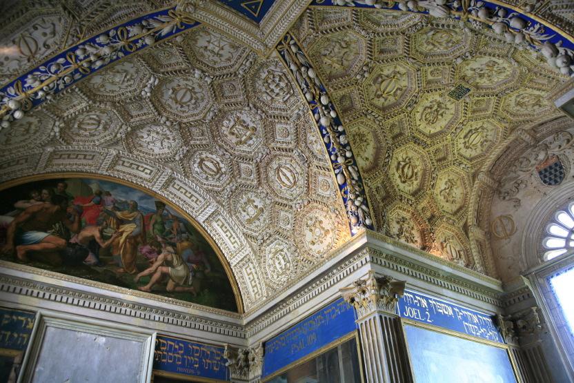 Plafond de la chapelle de la Bastie d'Urfé