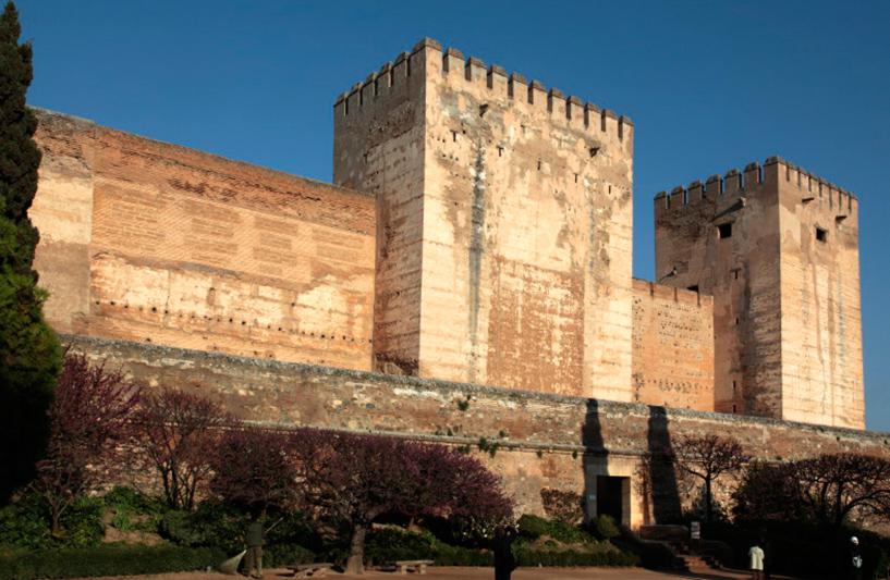 Tour de Comares vue du bas de l'Alhambra