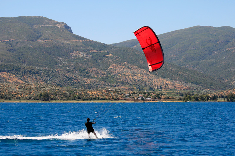 Kitesurf à Poros